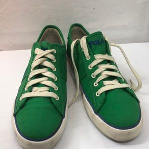 Polo Green & Blue Clifton Sneakers Size 11D